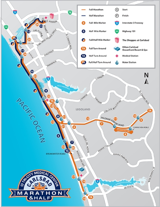 Carlsbad marathon map UPDATED 2015