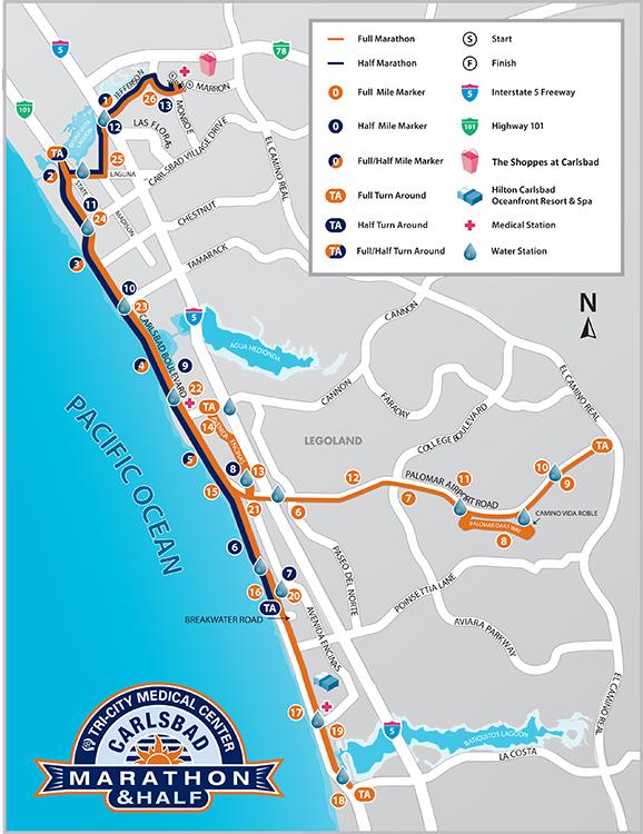 Carlsbad marathon map UPDATED 2015